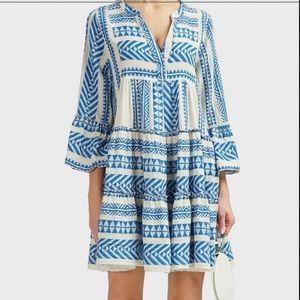 Devotion blue tiered dress, size S
